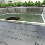Ansicht des Wasser-Beckens des 9/11-Memorials