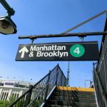 """Aufgang zur oberirdischen Subway-Station """"161 Street - Yankees Stadium Station"""" - Fahrtrichtung Manhattan & Brooklyn"""
