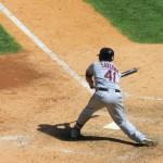 Carlos Santana - Nr. 41 von den Cleveland Indians - Designated Hitter