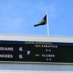 05. Juni 2013 - Endergebnis New York Yankees vs. Cleveland Indians: 6:4, Winning Pitcher: Sabathia, Losing Pitcher: Kluber