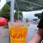 Ein echter Flaming Moe aus Moe's Taverne in Springfield (Limonade mit dampfendem Trockeneis).