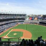 Innenansicht des New York Yankees Stadium 20 Minuten vor dem Spiel