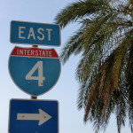Straßenschild - Interstate Highway 4 - I-4 East