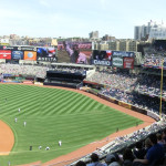 Yankees-Stadium: Innen-Panoramaaufnahme des Baseball Stadions der New York Yankees