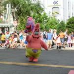 Patrick von Spongebob Schwammkopf bei der Universal Superstar Parade