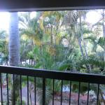 Blick vom Balkon im 1. OG in Richtung Hotel-Innenhof