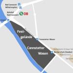 ÖPNV-Haltestellen Cannstatter Wasen