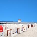 Strandkörbe am Kurstrand Sandwig - Glücksburg an der Ostsee