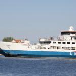 Fähre der Aneth Lines im Hafen von Keramoti