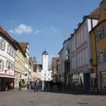 Die Burgstraße, die zentrale Einkaufsstraße in Bad Mergentheim