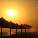 Sonnenuntergang am Strand von Keramoti