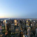 Abendliche Ansicht von Manhattan in richtung Norden - vom Empire State Building aus gesehen