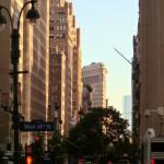 Das Flatiron Building - gesehen von der 34. Straße West - in der Nähe des Empire State Buildings