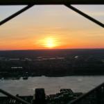 Sonnenuntergang über Jersey City - fotografiert vom Empire State Building