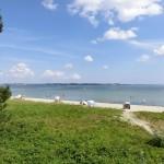 Blick über die Düne und den Sandstrand Holnis an der Ostsee / Flensburger Förde