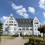 Nahaufnahme Strandhotel Glücksburg
