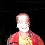 Fies lachender Zombie-Clown