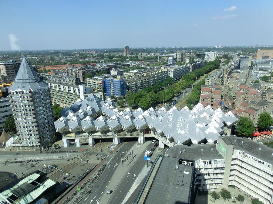 Kubushäuser Rotterdam von oben