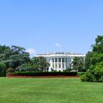 Mittelbau des Weißen Hauses in Washington D.C.
