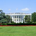 Zoom Mittelbau des Weißen Hauses in Washington D.C.
