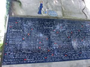 Ich-liebe-dich-Mauer in Paris