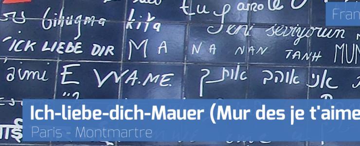 Für Verliebte: Die Ich-liebe-dich-Mauer (Mur des je t'aime) in Paris