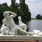 Skulptur Flussgott Donau in Schwetzingen