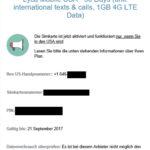 Benachrichtigung über erfolgte Aktivierung der Lyca Mobile USA Simkarte