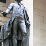Statue von George Washington an der Wall Street